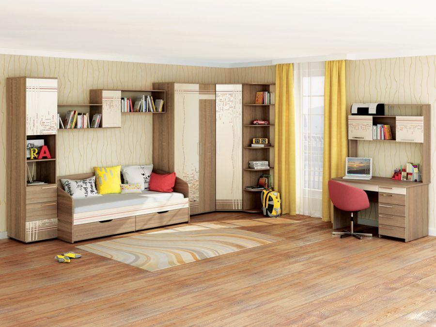 Мебель для молодежной комнаты «Бриз»