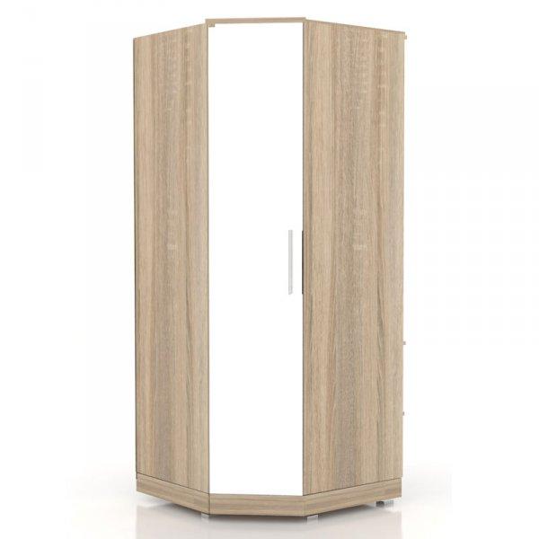 Шкаф угловой «Бруна» с зеркалом (ЛД 631.190, 631.132)